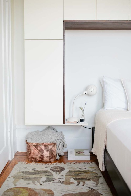 Kristen And Andrew Keep Their Bedside Table In A Neutral Palette On Design*Sponge