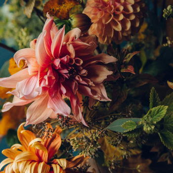 Autumn Flowers by Swallows & Damsons