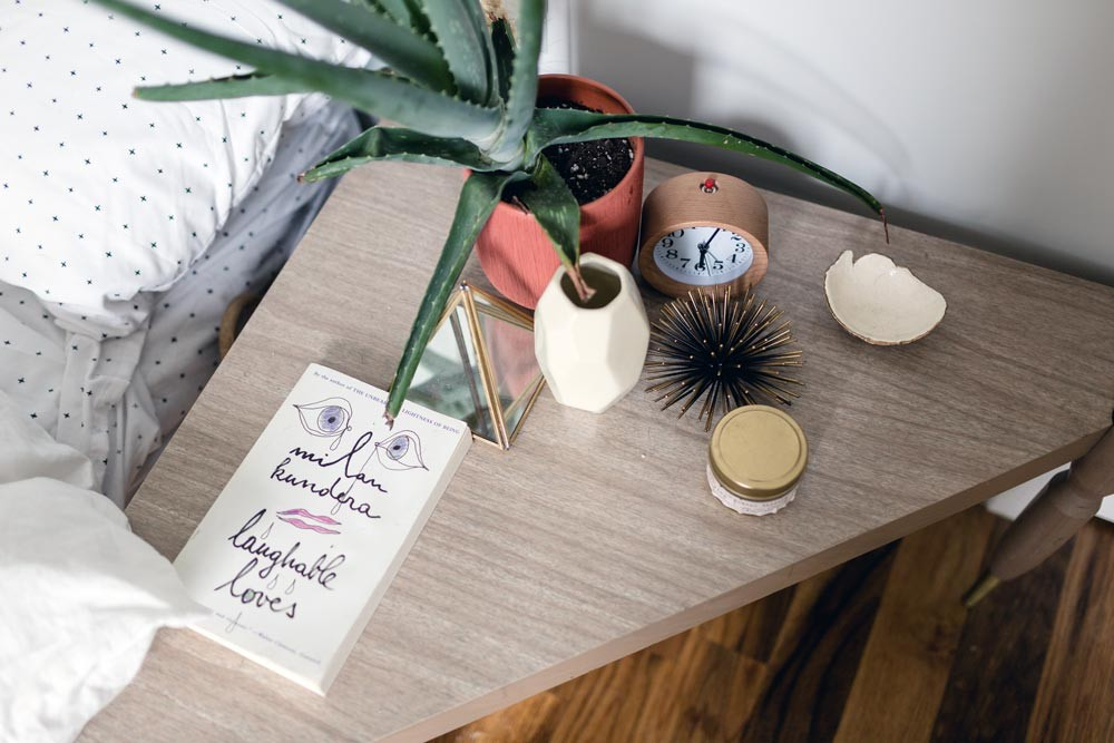 A Triangular Table Is The Perfect Solution For Small Quarters On Design*Sponge