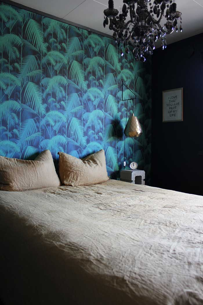 Palm Wallpaper In The Bedroom Of This Northern Norway Home On Design*Sponge