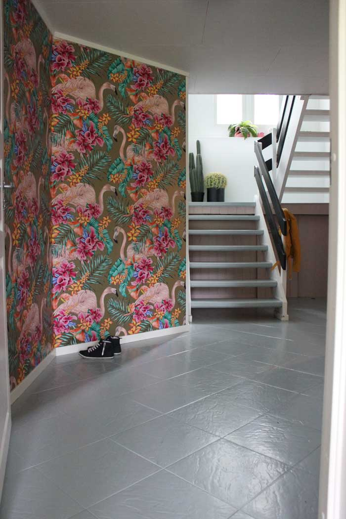 Graphic Wallpaper Brighten The Hall In This Norway Home On Design*Sponge