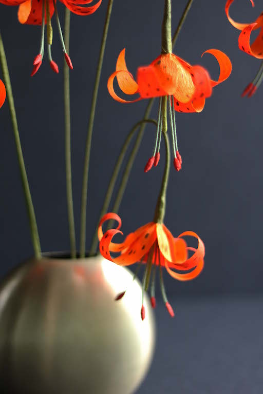 Crepe Paper Tiger Lily DIY by Kate Alarcon for Design*Sponge