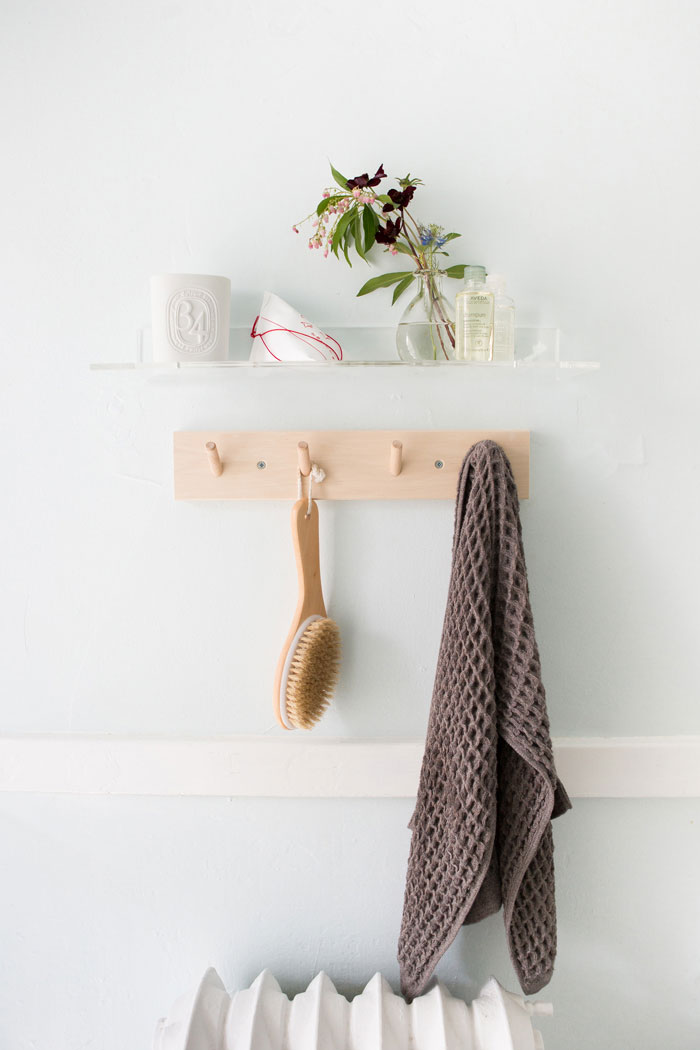 Shannon And Mark's Bathroom Vignette is Beautiful In Its Simplicity On Design*Sponge