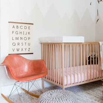 A Home for Mom, Dad & Baby Dotted with Blues & Pinks, Design*Sponge