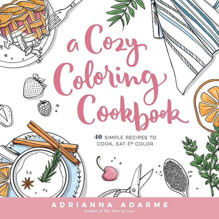 Cover of A Cozy Coloring Book by Adrianna Adarme | DesignSponge