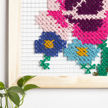 DIY Oversized Cross Stitch Wall Art