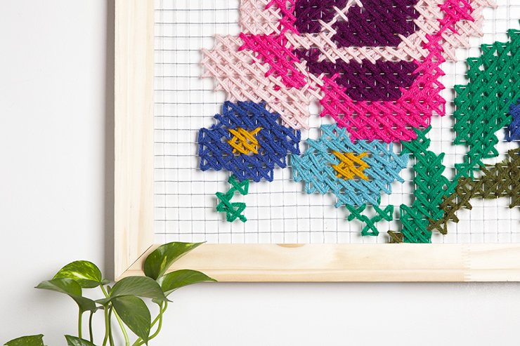 Diy Oversized Cross Stitch Wall Art Design Sponge