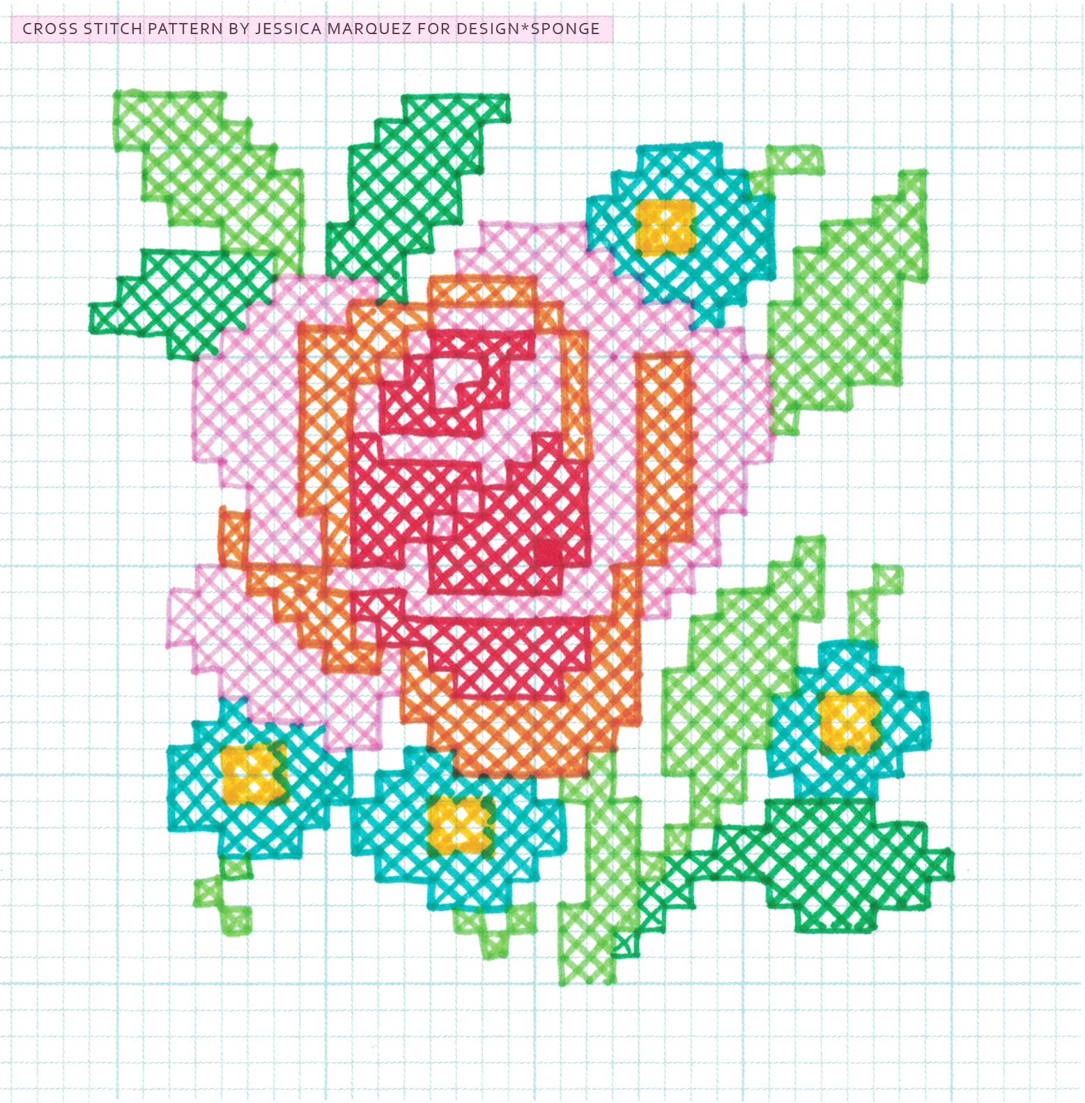 DIY Oversized Cross Stitch pattern