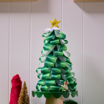 Holiday DIY: Ombre Ribbon Tree