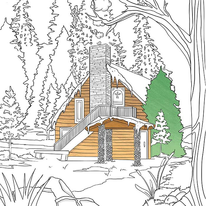 Illustration by Amber Day from A Cozy Coloring Book | DesignSponge