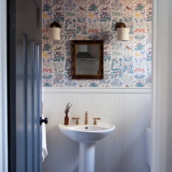 Before & After: A Country Home Gets A Powder Room & Living Room Update
