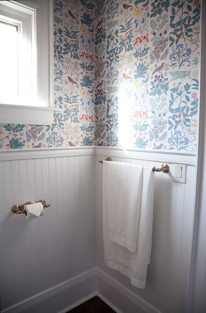 Vintage Replica Hardware Make The Powder Room Feel Even More Cohesive With The Rest Of The Home On Design*Sponge