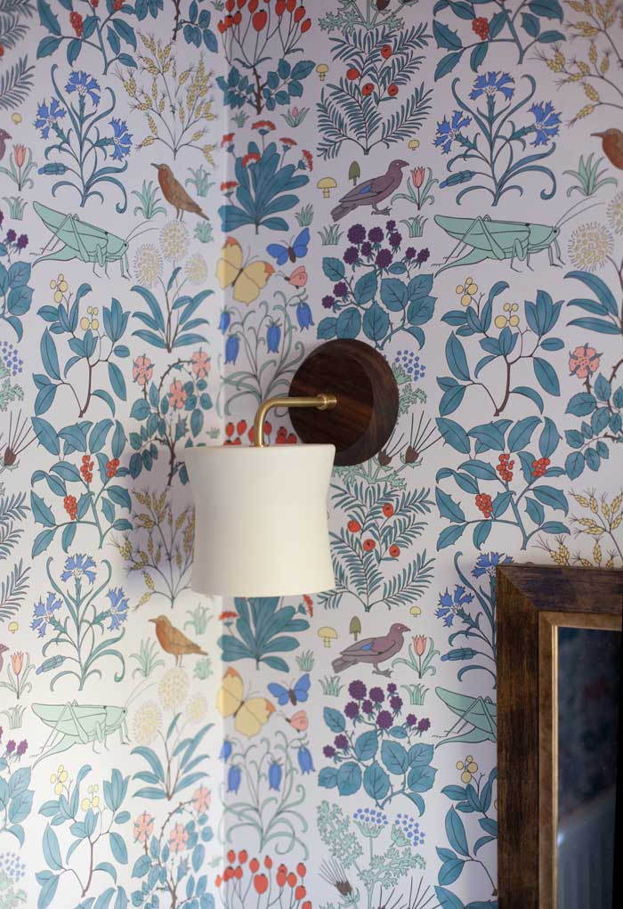 Gorgeous Clay Sconces Can Be Found In The Remodeled Powder Room On Design*Sponge