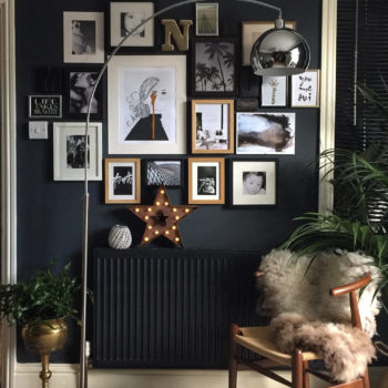 A charming art-filled home with dark and moody walls on Design*Sponge.