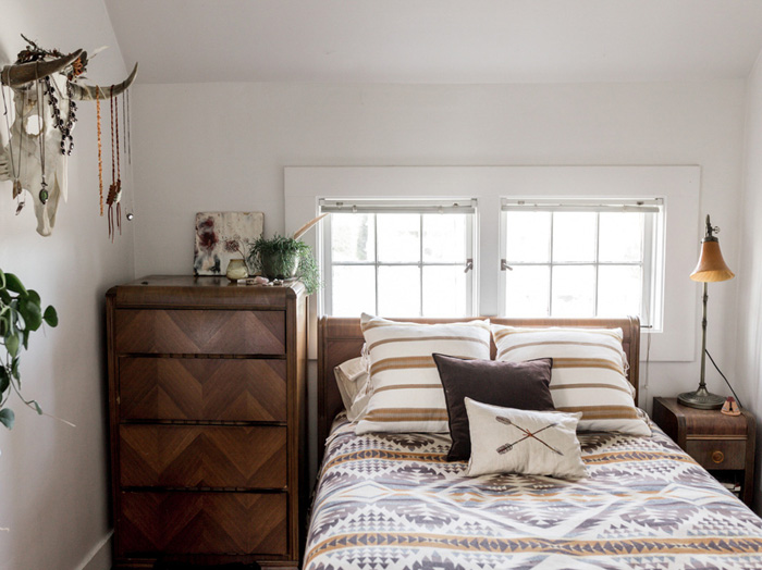 Sarah's Bedroom Features Found, Vintage, and Items That Are Family Heirlooms, On Design*Sponge