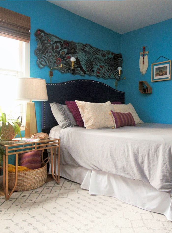 Before & After: Two Bedrooms Go from Dark to Doused in Color, Design*Sponge
