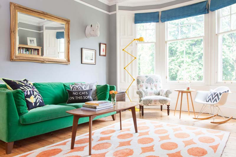 Emily And Euan's Edinburgh Living Room Is Relaxed And Fun In Their Design*Sponge Home Tour