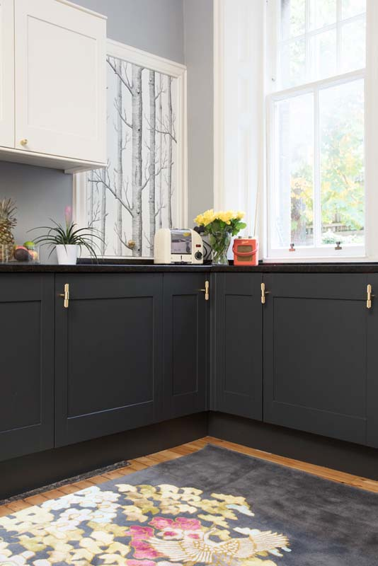 The Open Plan Kitchen Of Euan And Emily Features Updated Existing Cupboards On Design*Sponge