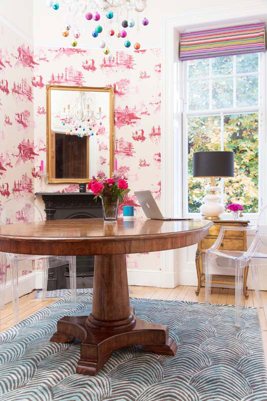 A Cheeky Wallpaper Dresses Up The Family Room On Design*Sponge