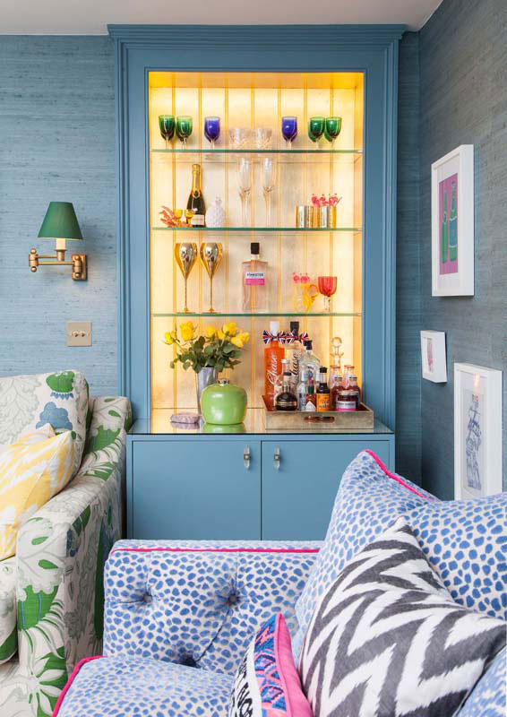 An Illuminated Bar Literally Shines In Emily And Euan's Edinburgh Home On Design*Sponge