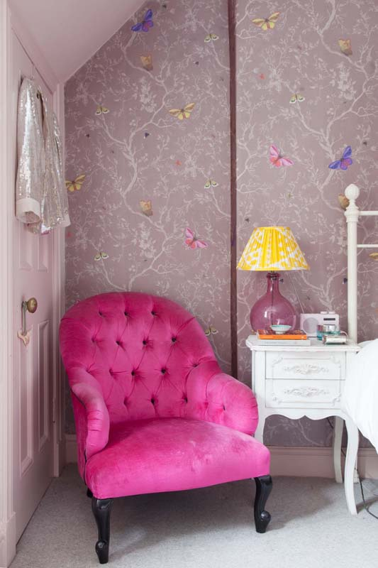A Pink Plush Chair For The Pink Bedroom In The Pink House On Design*Sponge