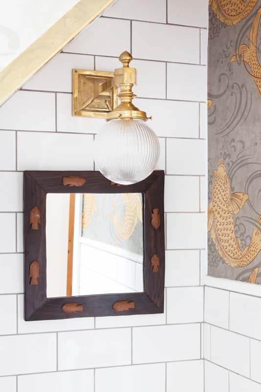 A Mirror Brought Back From Vacation And A Light That Is Beautiful And Safe On Design*Sponge