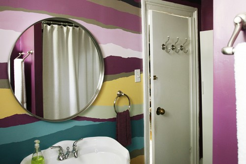 Missoni-Inspired Wall Treatment Allows The Older Home to Keep Its Charm On Design*Sponge