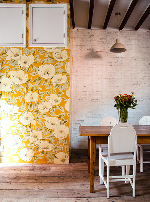 A Stunning Floral Mural In Brooklyn On Design*Sponge