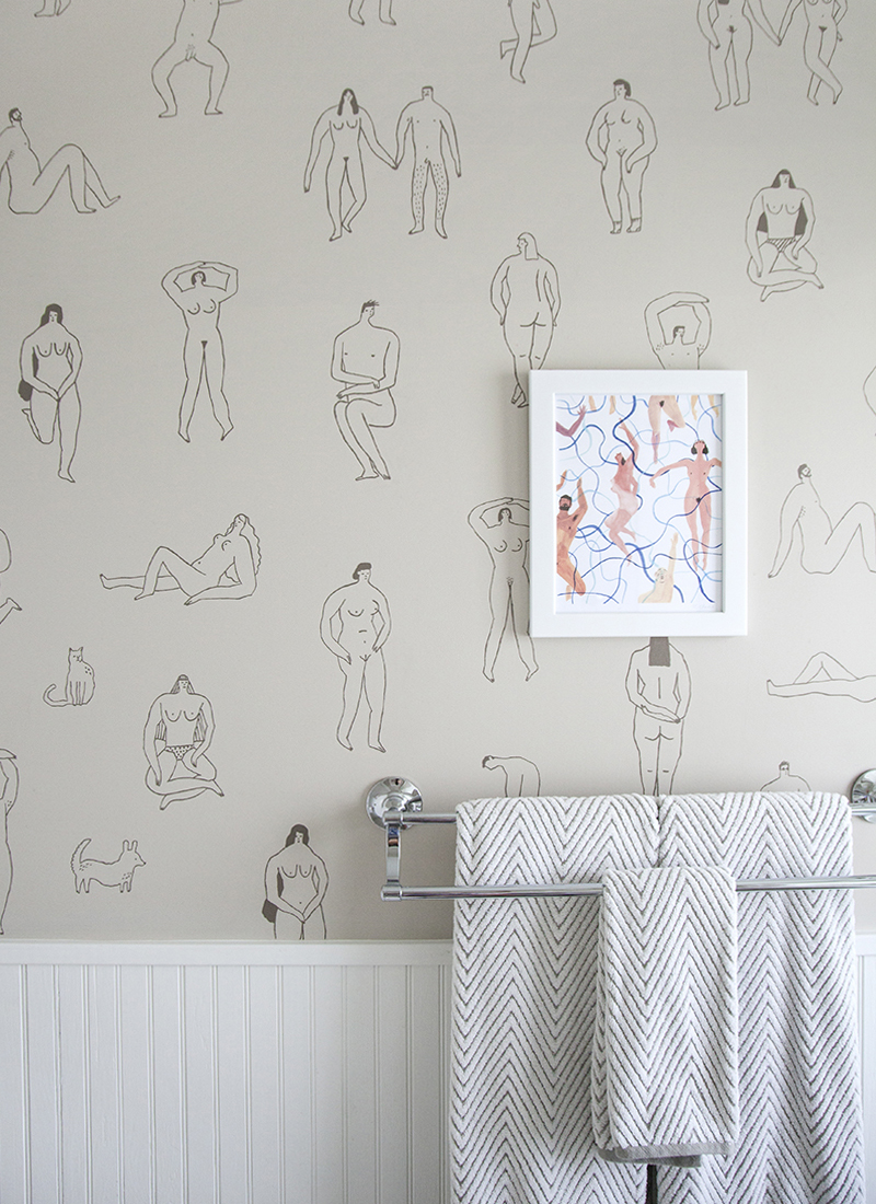 Transferred Sketches Create A One-Of-A-Kind Wall Treatment In This Kansas City Home On Design*Sponge