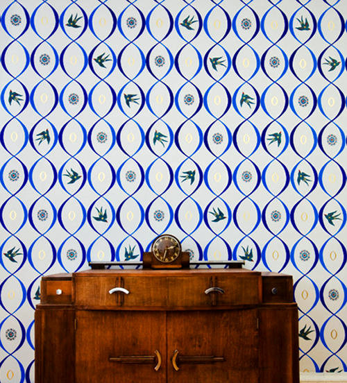 A Mural That You Would Mistake For Wallpaper On Design*Sponge