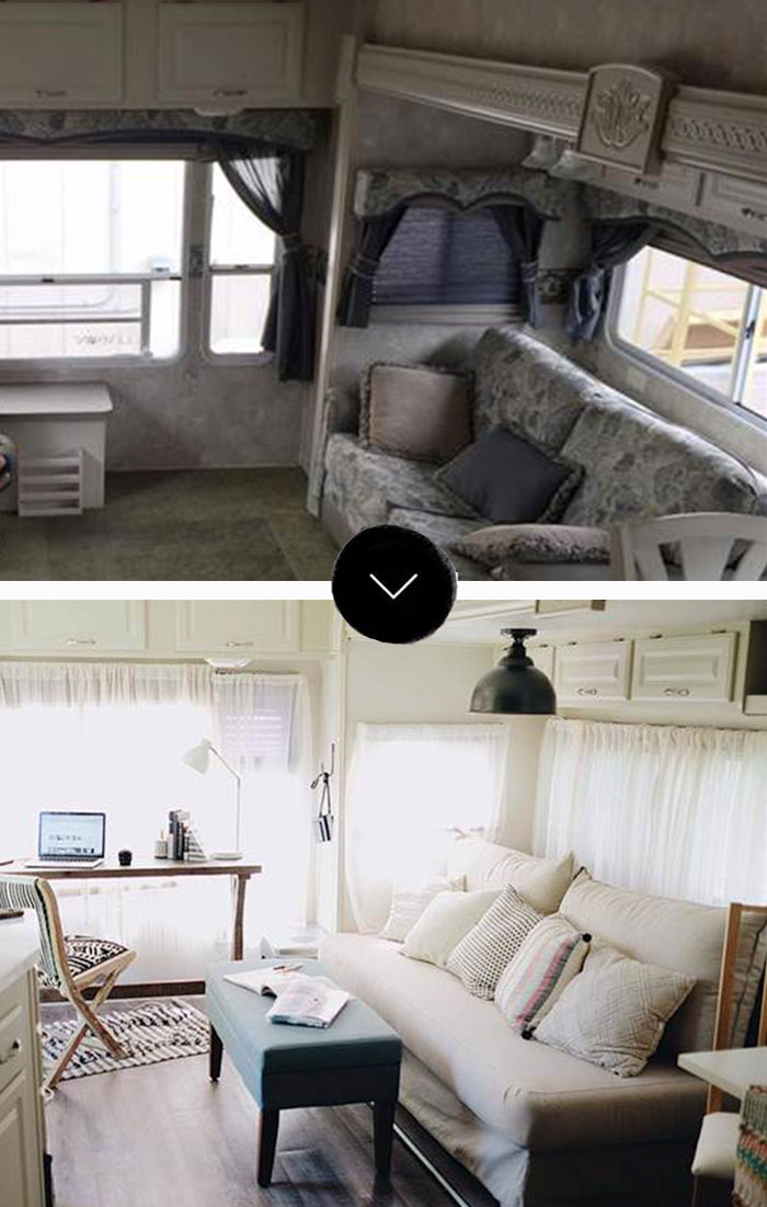 An RV Goes From Drab And Depressing To Bright And Happy On Design*Sponge