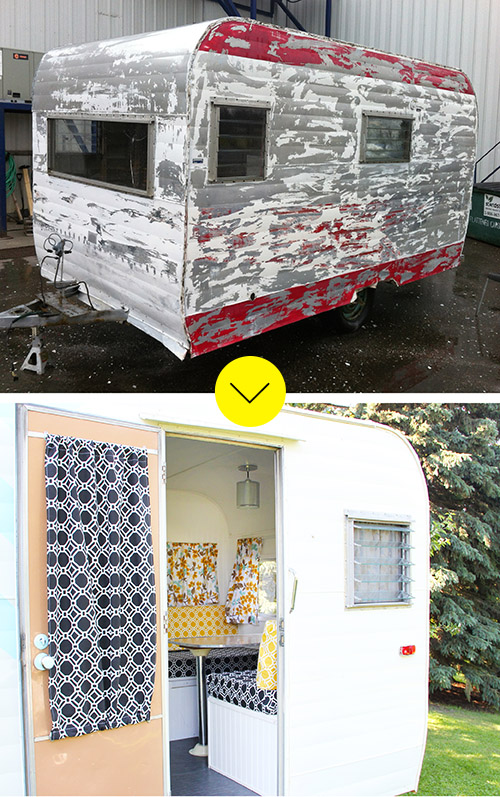 A Before And After Trailer Exterior On Design*Sponge
