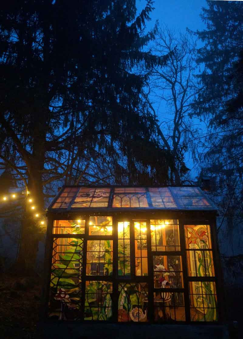 The New Jersey Glass Cabin On A Foggy Night On Design*Sponge