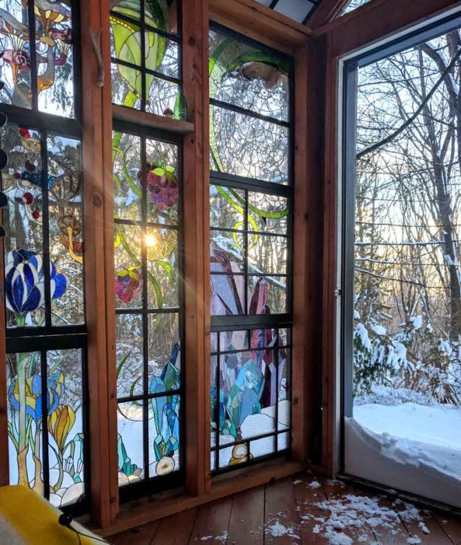 A Stained Glass Artist Creates A Mini Refuge