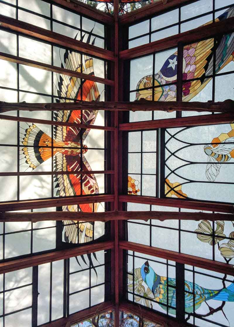 The Stained Glass Cabin Features A Hawk With An Impressive Eleven Foot Wingspan On Design*Sponge