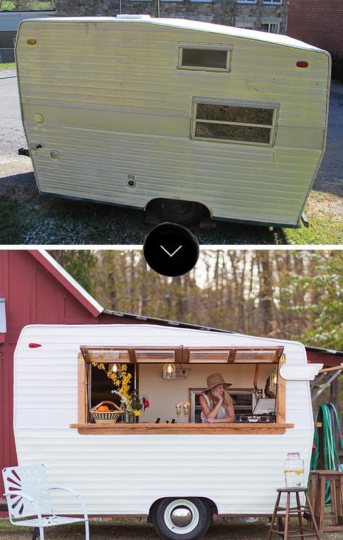 A renovated trailer becomes a business venture the before and after on Design*Sponge