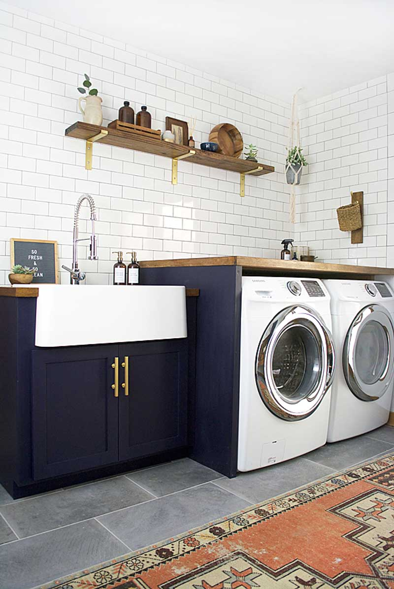 Before & After: A Modern Laundry Room Makeover for an Ohioan's Childhood Home | Design*Sponge