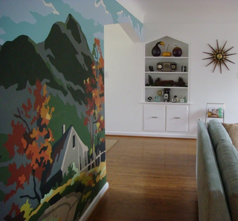 A Paint By Numbers Inspired Mural On Design*Sponge