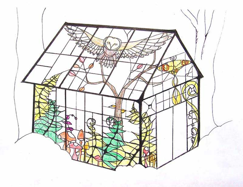 Layout Of Neile's Glass Cabin On Design*Sponge