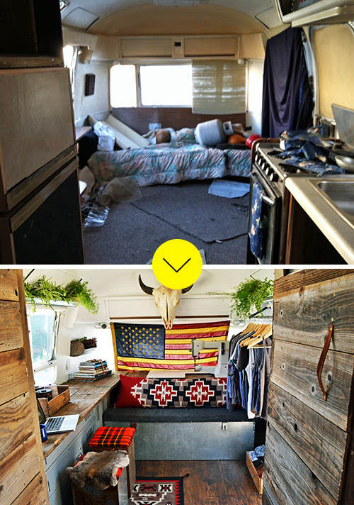A Creative Couple Finds A Home And Traveling Studio In Their Revamped Trailer On Design*Sponge