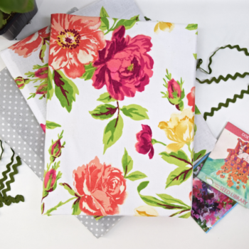 A Fabric Covered Garden Journal DIY For Spring
