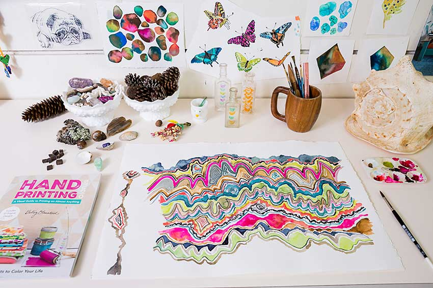 Colorful Details In Betsy Olmsted's Attached Studio On Design*Sponge