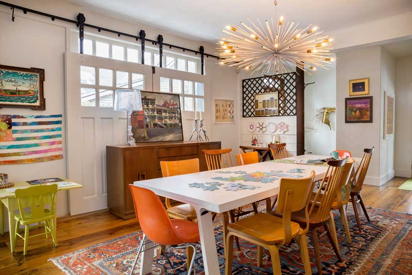 Betsy And Peter's Colorful Dining Room Sneak Peek On Design*Sponge
