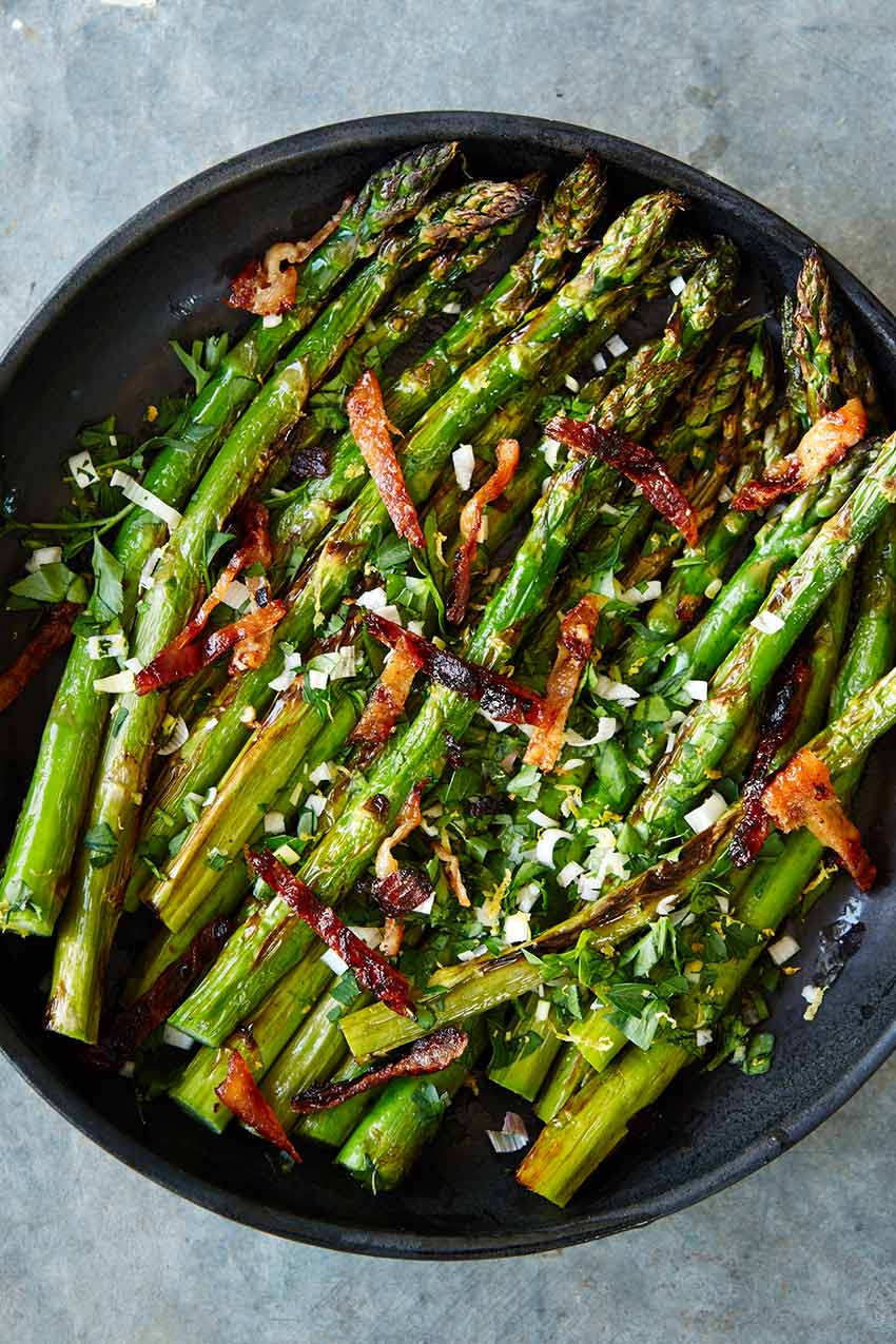 Asparagus with Gribenes and Gremolata | DesignSponge