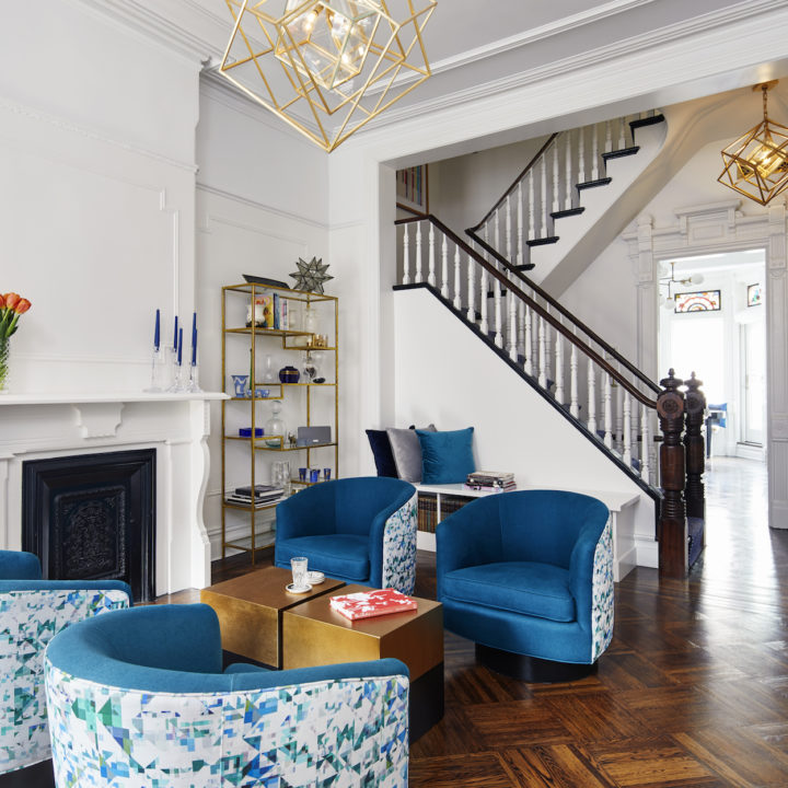 A Landmarked Park Slope Brownstone Awakens with Vibrant Color
