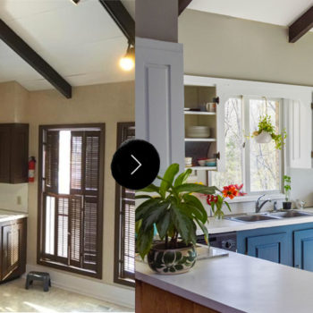 Before & After: A Dreary Kitchen Gets A Bright Makeover for Spring