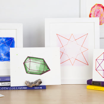 DIY Stitched Geometric Artwork
