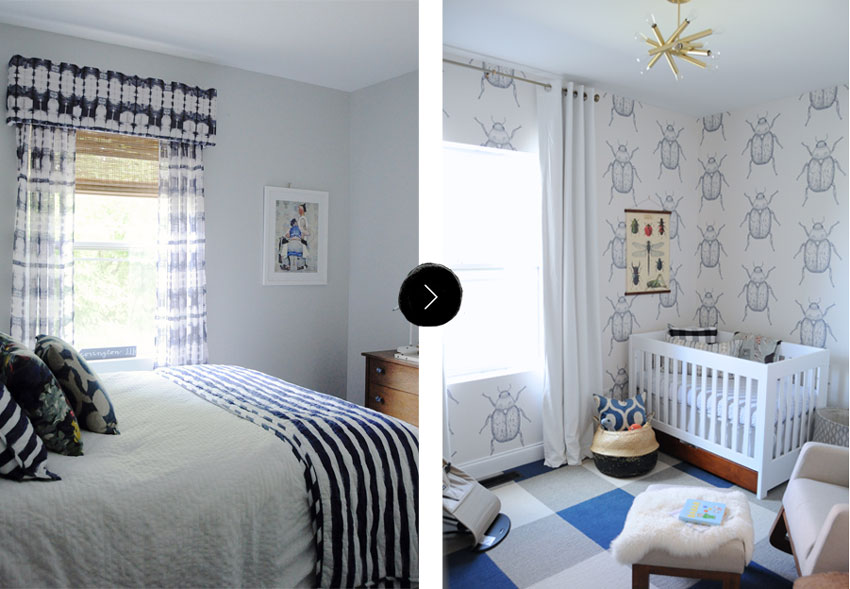 The Previous Guest Room Became Baby Otto's New Room On Design*Sponge