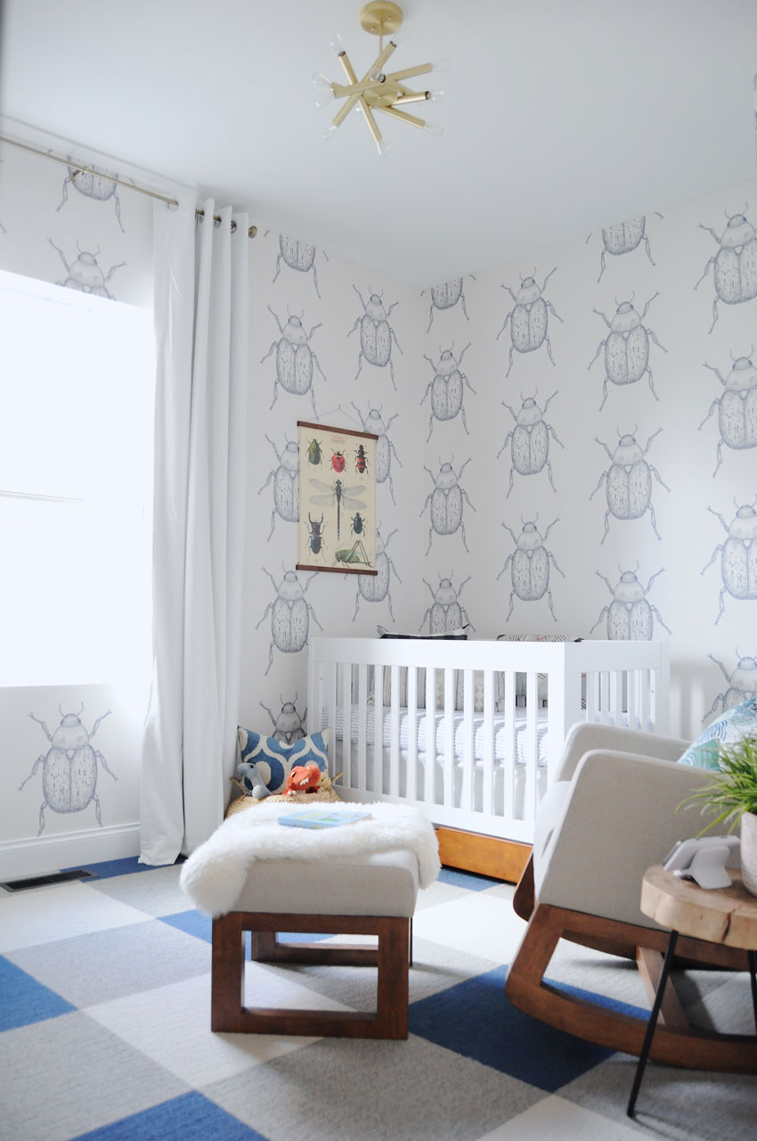 Otto's Bettle Wallpaper Covered Walls Are A Favorite Feature On Design*Sponge