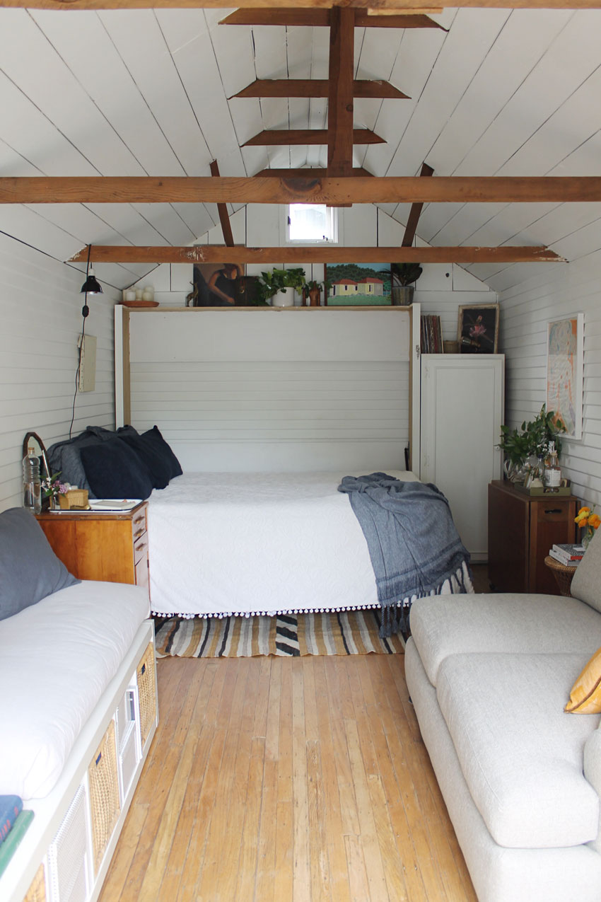 A Murphy Bed Allows Extra Space When Not In Use In This Bay Area Tiny House On Design*Sponge